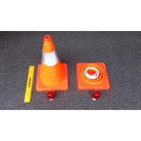 Emergency Collapsible/ Folable Safety Cone with Red Beacon Blinking Light